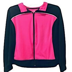 Made for Life Jacket Activewear Pink Full Zip XL
